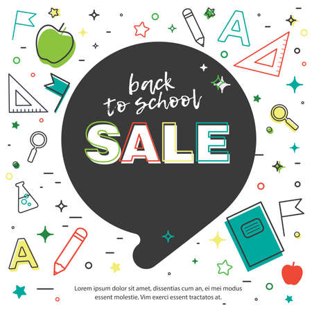 Back to School sale background. Vector