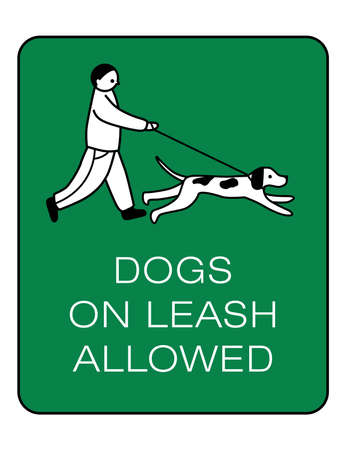 Dog owner sign. Prohibiting and resolving signs.