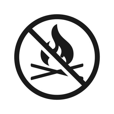 No fire sign. Vector Çizim