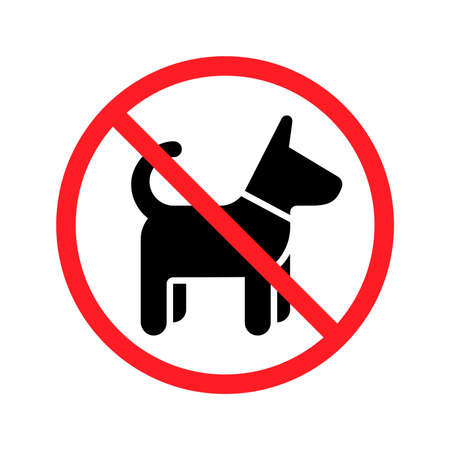 No dog sign, vector illustration.