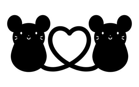 The Heart Shaped Mice on white