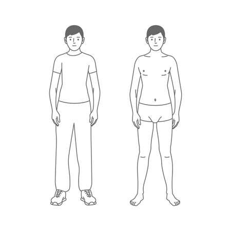 Young man in sportswear and underwear 矢量图像