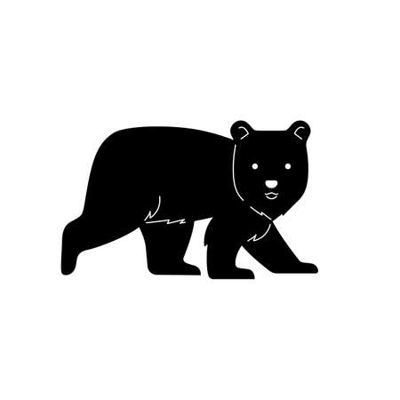 Bear graphic vector illustratipon for cutting mold.