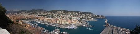 Körkép régi kikötő a Nizza, Franciaország