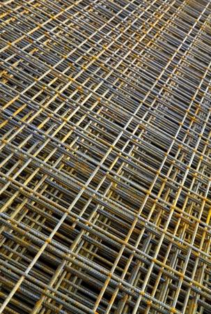 Stack rozsdás betonacél átlós nézet