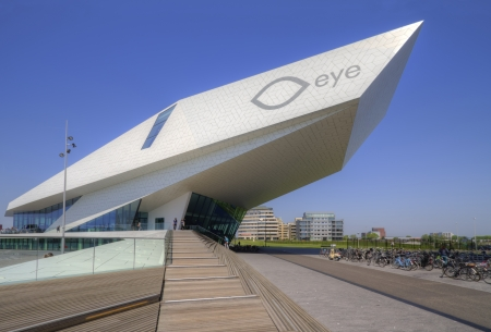 Modern architecture of EYE film institute in Amsterdam, the Netherlands 新聞圖片