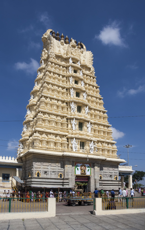 Hindu templom Mysore India nevű Chamundeshwari