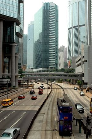 Hongkong Central, main surrounded with skyscrapers. Editorial