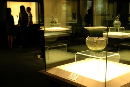 China, Shanghai museum with ancient exhibits from all around China.