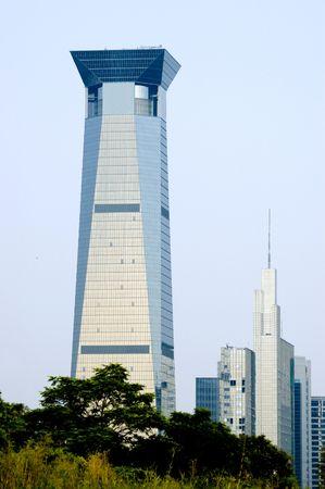 futian: China, Guangdong province, Shenzhen city. Modern, high skyscraper in Futian district.