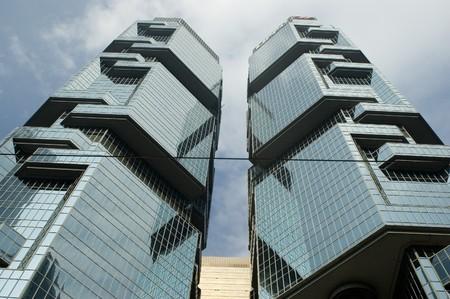 Hong Kong Island - city center with modern skyscrapers, office buildings, of Asian business city. Reklamní fotografie