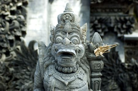 Religious sculpture - Bali Island, Indonesia. Popular sculptures connected with Indonesian belive.