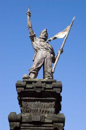 sukarno: Indonesian hero - 1st president of Indonesia Sukarno, statue in Kuta city, Bali Island, Indonesia.
