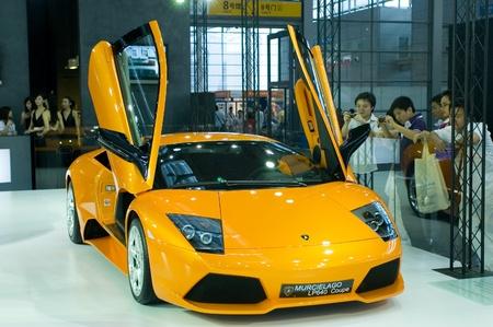 CHINA, SHENZHEN - JUNE 11: Lamborghini sportscar in Hong Kong - Shenzhen - Macao Car Show June 11, 2009 in Shenzhen, China. Editorial