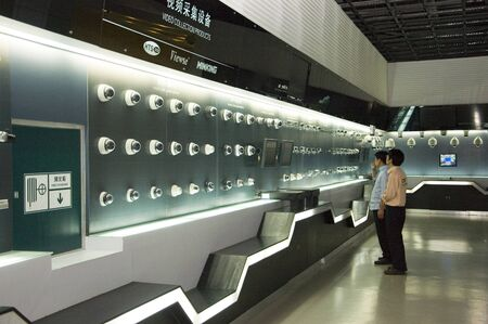 CHINA, SHENZHEN - APRIL 20: The biggest CCTV, surveillance camera producer in China, factory tour on April 20, 2010 in Shenzhen. Editorial