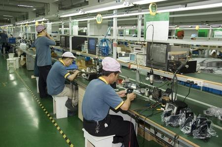 CHINA, SHENZHEN - APRIL 20: The biggest CCTV, surveillance camera producer in China, factory tour on April 20, 2010 in Shenzhen. Redakční