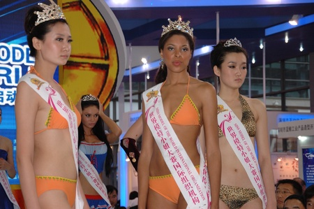 contestant: CHINA, SHENZHEN - MAY 15: The 22nd Miss Model of The World runway show on May 15, 2010 in Shenzhen. Editorial