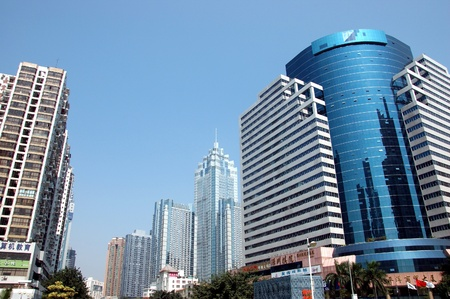 SHENZHEN, CHINA - OCTOBER 31: General cityscape of Luohu district, Shenzhen on October 31, 2010. This year is 30th anniversary for Shenzhen special economic zone. Redakční