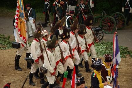 siege: SREBRNA GORA, POLAND - JUNE 11: 1807 Napoleons forces battle reconstruction, siege of the Srebrna Gora fortress. French army march on June 11, 2011.