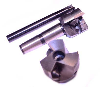 Professional cutting tools. Milling head for metal processing. photo