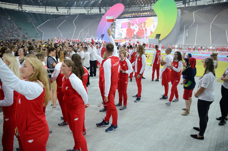WROCLAW, POLAND - JULY 20: The World Games, Opening Ceremony, representation of Poland on 20th July 2017 in Wroclaw.