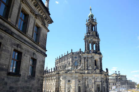 Cathedral of Holy Trinity in Dresden city, Saxony state in Germany. Unique architecture in baroque style.