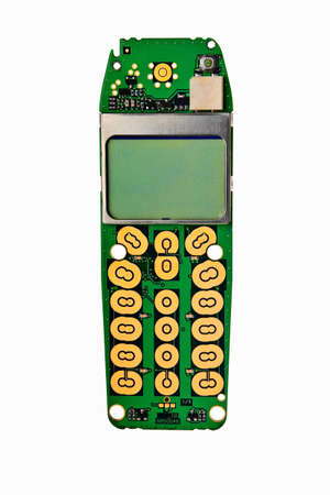 Digital mobile phone printed board with lcd display. Stock Photo - 6144141