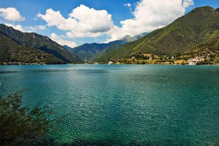 di: Lago di Ledro view, Italy.