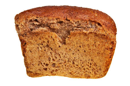 graham: Fresh, tasty graham bread isolated over white background. Stock Photo