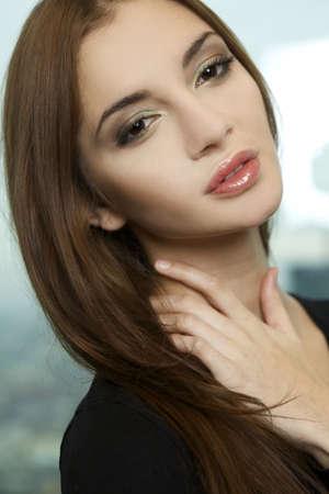 portrait of a beautiful adult sensuality woman  photo