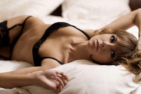 beautiful blonde woman Stock Photo