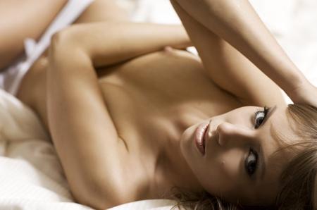 beautiful brunette in lingerie photo