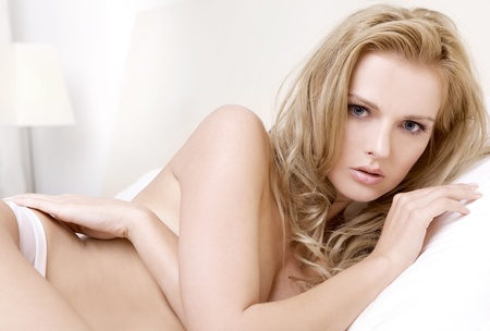 Young sexy blond woman in sexy lingerie Stock Photo - 9695844