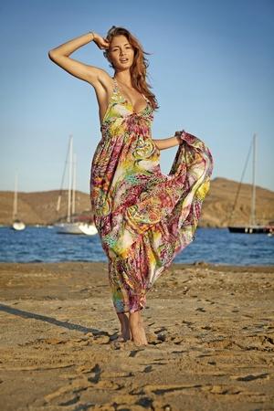 goddess of the wind dance on the beach photo