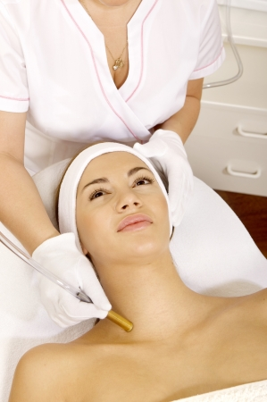 Laser hair removal in professional beauty studio. beauty parlor Stock Photo - 9998423