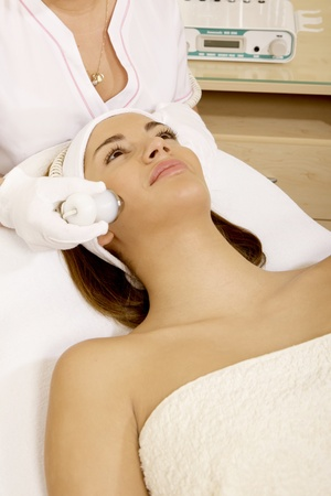 Laser hair removal in professional beauty studio. beauty parlor Stock Photo - 10070696