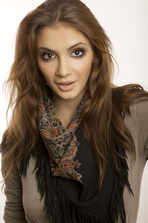 portrait of a beautiful adult sensuality brunette woman Stock Photo - 16661316