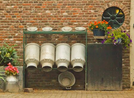 tradional: milk cans in the netherlands