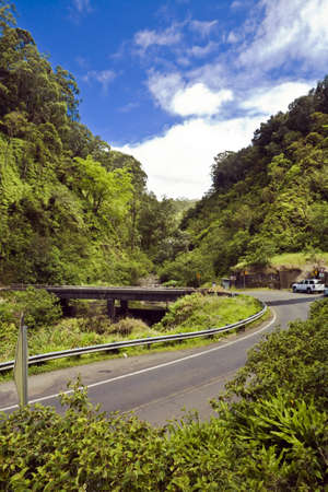 Hana Highway Bridge on Mauis tropical north coast