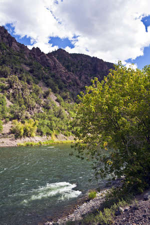 Gunnison River in Black Canyon of the Gunnison National Park in Colorado