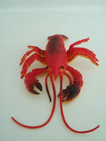 pinchers: A closeup of a red plastic lobster