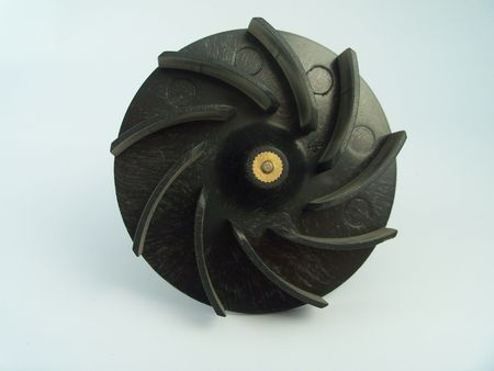 impeller: Detail of a vacuum impeller with radiating blades
