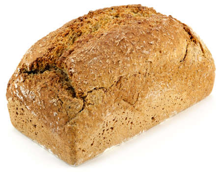 a loaf of bread on a white table photo