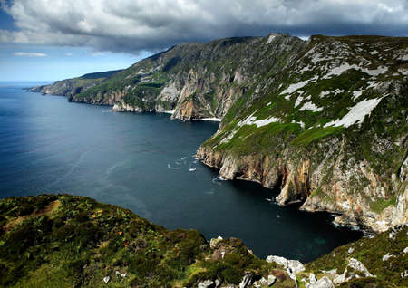 Cliffs of Slieve in County Donegal, Ireland photo