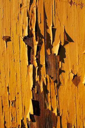 pealing: A close-up picture of an old wooden house with pealing off paint