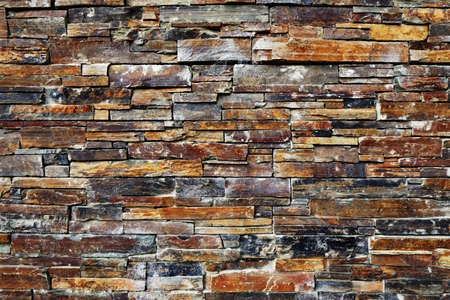 rubble: A detail from a old Irish stone wall with rectangular shaped stones Stock Photo