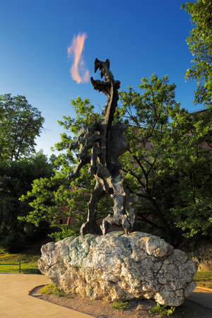 wawel: The Dragon of Wawel Hill is one of many tourist attractions around the Wawel Castle in Krakow, Poland