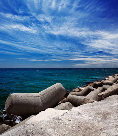 Breakwater in the Puerto Banus in Marbella, Spain  Marbella is a popular holiday destination located on the Costa del Sol in the southern Andalusia photo