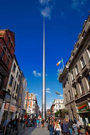 The Spire of Dublin also known as Spike is a large, 121.2 metres tall stainless steel pin-like monument located on the OConnell Street in Dublin, Ireland