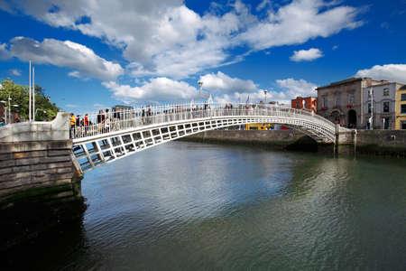liffey: Liffey Bridge known as Hapenny Bridge is a pedestrian bridge over the river Liffey in Dublin City Centre, built in 1816 of cast iron